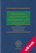 Cover of Financial Markets and Exchanges Law (eBook)