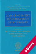 Cover of Commencement of Insolvency Proceedings (eBook)