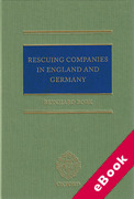 Cover of Rescuing Companies in England and Germany (eBook)