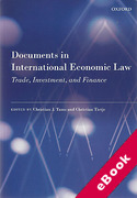 Cover of Documents in International Economic Law: Trade, Investment, and Finance (eBook)