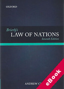 Cover of Brierly's Law of Nations: An Introduction to the Role of International Law in International Relations (eBook)