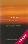 Cover of Land Law (eBook)