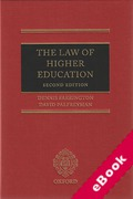 Cover of The Law of Higher Education (eBook)