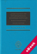 Cover of Arbitration of International Business Disputes: Studies in Law and Practice (eBook)