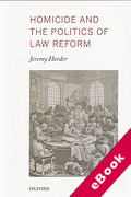 Cover of Homicide and the Politics of Law Reform (eBook)