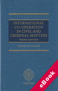 Cover of International Co-Operation in Civil and Criminal Matters (eBook)