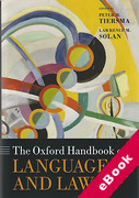 Cover of The Oxford Handbook of Language and Law (eBook)