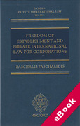 Cover of Freedom of Establishment and Private International Law for Corporations (eBook)