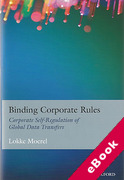 Cover of Binding Corporate Rules: Corporate Self-Regulation of Global Data Transfers (eBook)