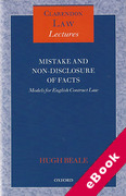 Cover of Mistake and Non-Disclosure of Fact: Models for English Contract Law (eBook)