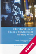 Cover of International Law in Financial Regulation and Monetary Affairs (eBook)