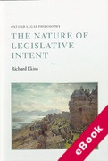 Cover of The Nature of Legislative Intent (eBook)