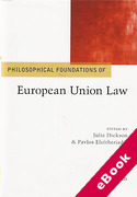 Cover of Philosophical Foundations of EU Law (eBook)