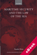 Cover of Maritime Security and the Law of the Sea (eBook)