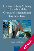 Cover of The Nuremberg Military Tribunals and the Origins of International Criminal Law (eBook)