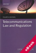 Cover of Telecommunications Law and Regulation (eBook)