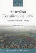 Cover of Australian Constitutional Law: Foundations and Theory