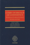 Cover of Gurry on Breach of Confidence: The Protection of Confidential Information