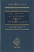 Cover of Substance and Procedure in Private International Law