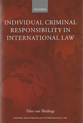 Cover of Individual Criminal Responsibility in International Law
