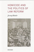 Cover of Homicide and the Politics of Law Reform
