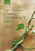 Cover of Cheshire, Fifoot & Furmston's Law of Contract