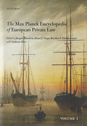 Cover of Max Planck Encyclopedia of European Private Law