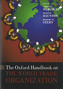 Cover of The Oxford Handbook on The World Trade Organization