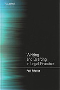 Cover of Writing and Drafting in Legal Practice