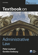 Cover of Textbook on Administrative Law
