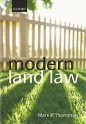 Cover of Modern Land Law