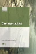 Cover of LPC: Commercial Law 2012