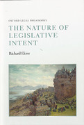 Cover of The Nature of Legislative Intent
