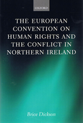 Cover of European Convention on Human Rights and the Conflict in Northern Ireland