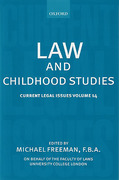 Cover of Current Legal Issues Volume 14: Law and Childhood Studies