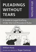 Cover of Pleadings Without Tears: A Guide to Legal Drafting Under the Civil Procedure Rules