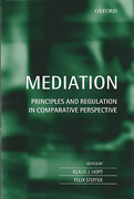 Cover of Mediation: Principles and Regulation in Comparative Perspective