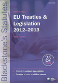 Cover of Blackstone's EU Treaties and Legislation 2012 - 2013
