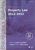 Cover of Blackstone's Statutes on Property Law 2012 - 2013