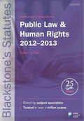 Cover of Blackstone's Statutes on Public Law and Human Rights 2012 - 2013