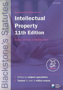 Cover of Blackstone's Statutes on Intellectual Property