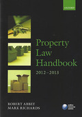 Cover of Property Law Handbook 2012 - 2013