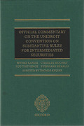Cover of Official Commentary on the UNIDROIT Convention on Substantive Rules for Intermediated Securities