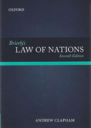 Cover of Brierly's Law of Nations: An Introduction to the Role of International Law in International Relations