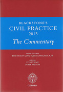 Cover of Blackstone's Civil Practice 2013: The Commentary