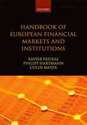 Cover of Handbook of European Financial Markets and Institutions