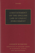 Cover of A Restatement of the English Law of Unjust Enrichment