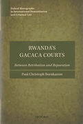 Cover of Rwanda's Gacaca Courts: Between Retribution and Reparation