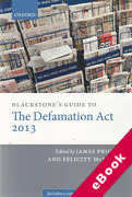 Cover of Blackstone's Guide to the Defamation Act (eBook)