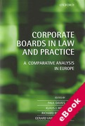 Cover of Corporate Boards in European Law: A Comparative Analysis  (eBook)